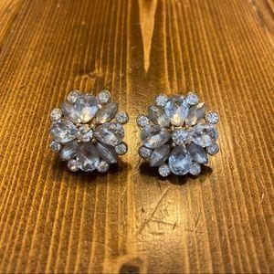 Jeweled Flower Earrings